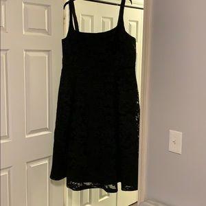Black lace dress A-line